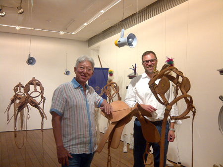 Matthias Arndt visiting Rudi Akili at his Museum in Jakarta, Indonesia, July 2013