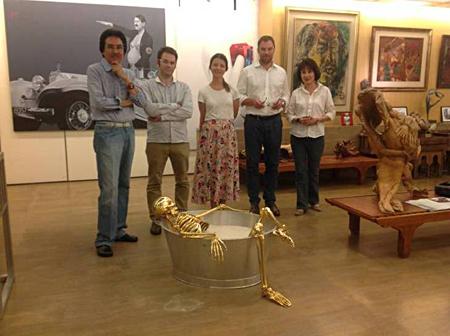 Matthias Arndt at the Deddy Kusuma Collection, Jakarta, Indonesia, July 2013