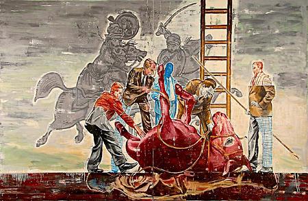 Inspector's Scrutiny by Nicky Nodjoumi