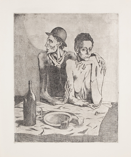 Le Repas Frugal (from la suite des Saltimbanques) by Pablo Picasso
