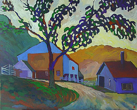 Farm at Dawn by Robert Hoftherr