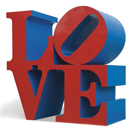Love red/blue by Robert Indiana