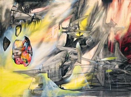 Le pendu (The hanged man) by Roberto Matta