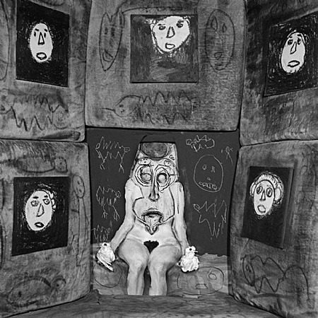 Untitled #6002 - Asylum series by Roger Ballen