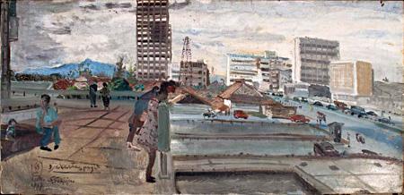 Djakarta Pagi 2 by Sindudarsono Sudjojono