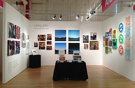 UGallery Affordable Art Fair Booth, 2013