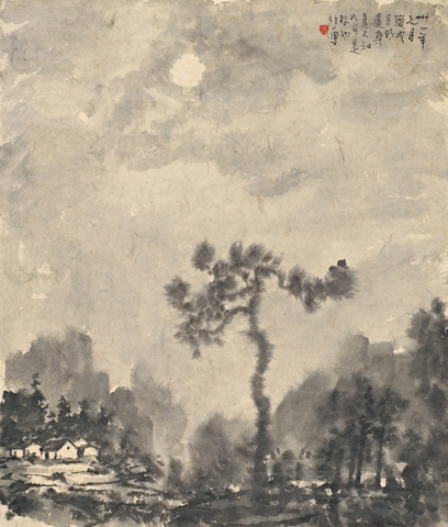 Moonlit Night in Lashio by Xu Beihong