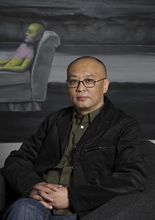 Zhang Xiaogang portrait