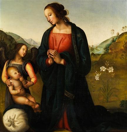La Madonna del Sacco After Perugino