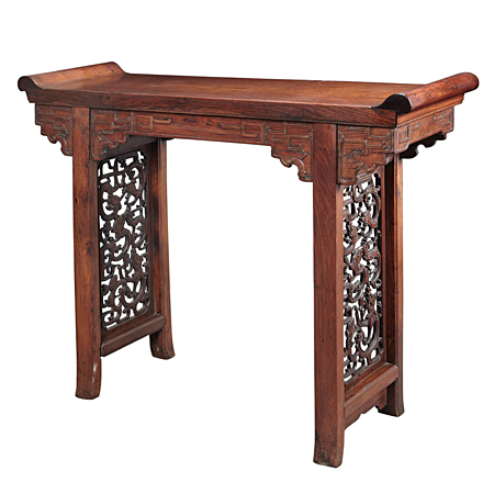 Chinese Huanghuali Trestle-Leg Table