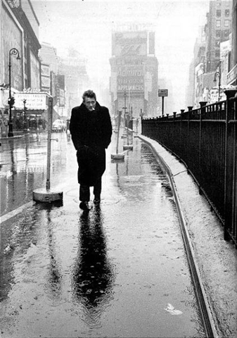 James Dean in Times Square by Dennis Stock