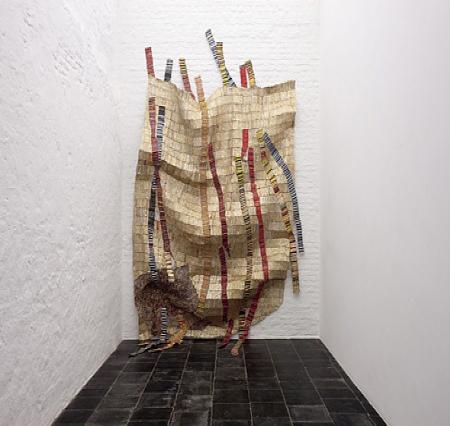 El Anatsui, Hesitant Rivers, 2012