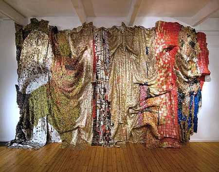 El Anatsui, In the World, But don't know the World?, 2009