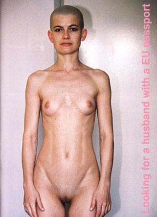 Tanja Ostojic: 'Looking for a Husband with EU Passport'; 2000-2002; 10 light prints, 420 x 297 cm (1), 297 x 210 cm (9)