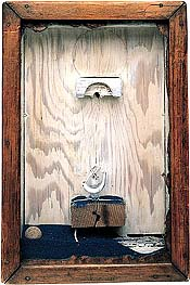 Joseph Cornell: 'Sand Fountain';1949; mixed media box construction; 12 x 8 x 4 inches