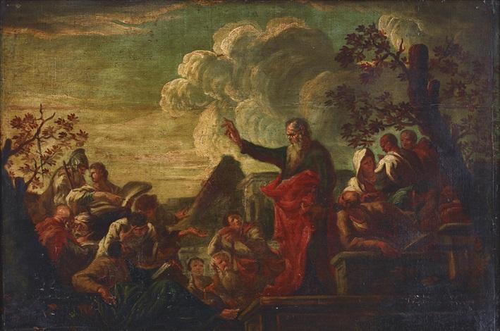 Saint Paul in Lystra preaching by Giovanni Ghisolfi on artnet