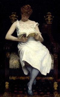 Girl reading, 1893