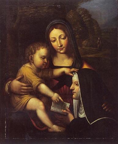 La Vierge à lEnfant et Sainte Catherine de Sienne by Italian ...