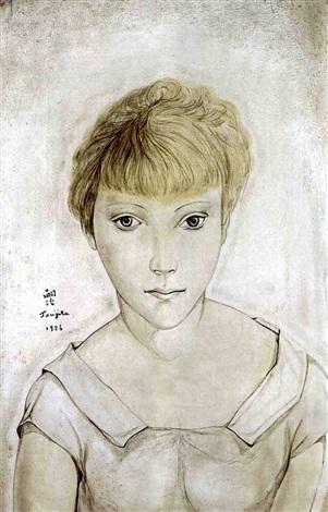 Portrait de Marie-Berthe Aurenche by Léonard Tsuguharu Foujita on artnet