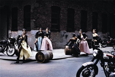 helena christensen, stephanie seymour, karen mulder, naomi campbell, claudia schiffer, cindy crawford, vogue us, brooklyn, ny, usa by peter lindbergh