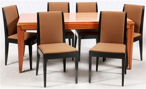 Cherry Dining Table Gorman Chairs 7 Pieces By Roche Bobois