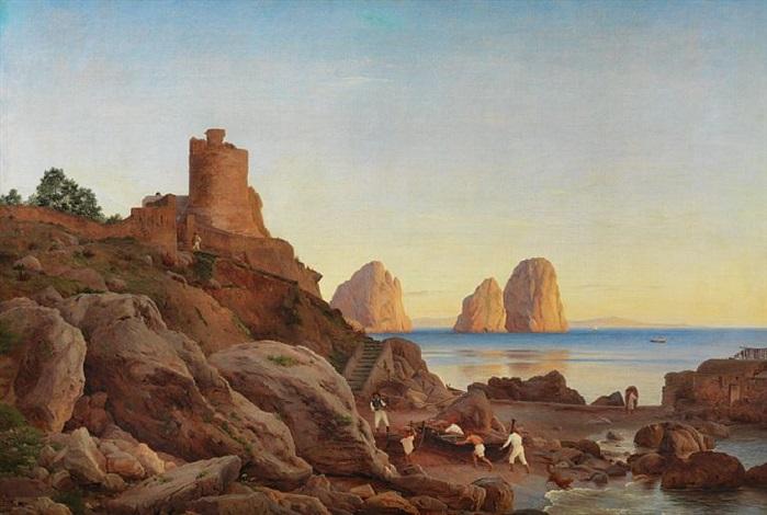 View of Marina Piccola on Capri by Christen Købke on artnet