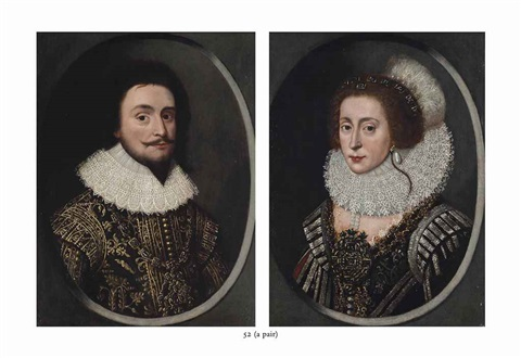 Portrait of Frederick V of Bohemia, the Winter King, Elector Palatine  1596-1632 and Portrait of Elizabeth, Queen of Bohemia 1596-1662 pair by  Pierre Dumonstier the Younger on artnet