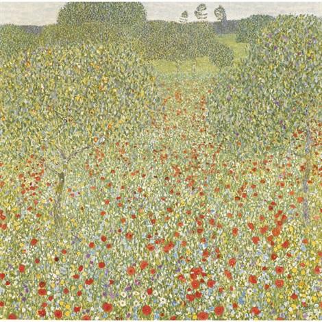 Poppy Field No 5 By Gustav Klimt