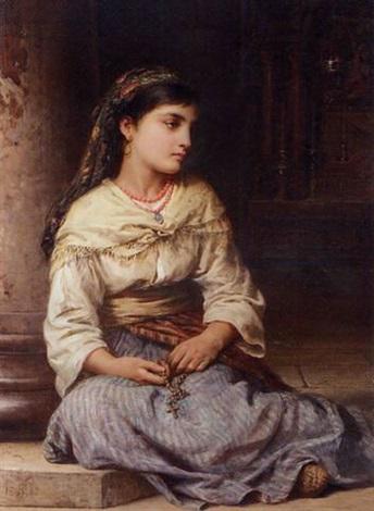 edwin long a young girl holding a rosary - 13 de maio