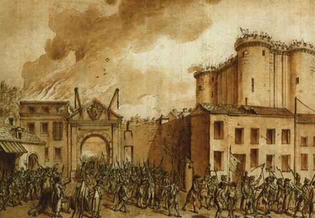 LA PRISE DE LA BASTILLE LE 14 JUILLET 1789 by Claude Louis Desrais on artnet