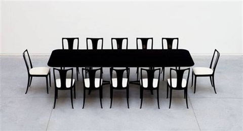 Dining Table 12 Chairs Set Of 13 By Guglielmo Ulrich
