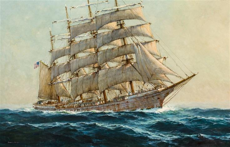 The William P. Frye at sea by Jack Lorimer Gray on artnet