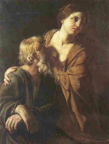Roman charity by Bartolomeo Manfredi on artnet