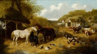 CATTLE, PIGS, DUCKS, CHICKENS AND HORSES IN..., 1851