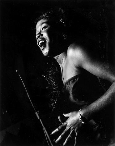 Sarah Vaughan, Birdland, NYC by Herman Leonard on artnet