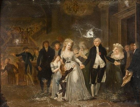 Les adieux de Louis XVI à sa famille by Jean-Jacques Hauer on artnet