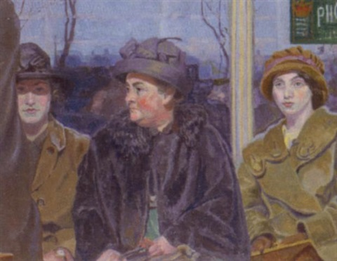 At the bus stop by Marjorie Sherlock on artnet