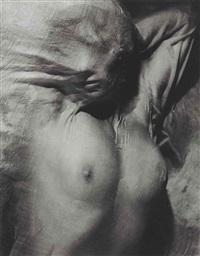 nude under wet silk, paris by erwin blumenfeld