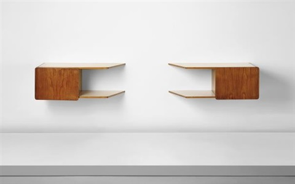 Pair Of Wall Mounted Bedside Tables From The Fondazione Livio E Maria Garzanti