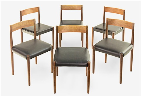 Dining Chairs Set Of 6 Works By Poul Volther