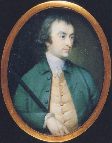 Thomas Snape Alsager in green coat, pale yellow waistcoat, white ...