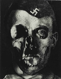 hitler, grauenfresse (hitler, face of terror), holland, 1933 by erwin blumenfeld