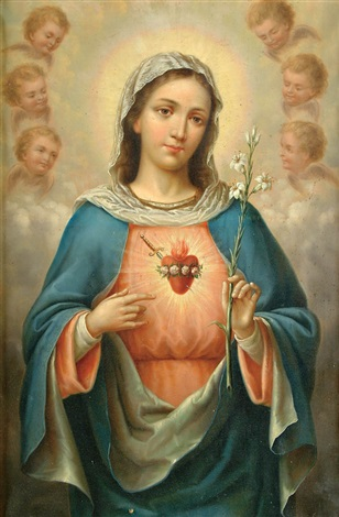 german school (19) the immaculate heart of mary (+ the sacred heart of christ; pair)
