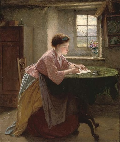The letter writer by Haynes King on artnet