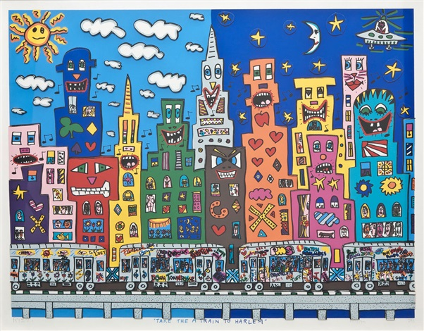 Take the A train to Harlem by James Rizzi on artnet