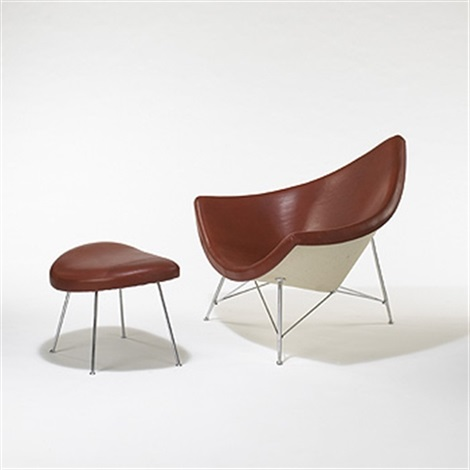 Coconut Chair And Ottoman By George Nelson