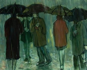 Personajes bajo la lluvia by Pedro Sobrado on artnet