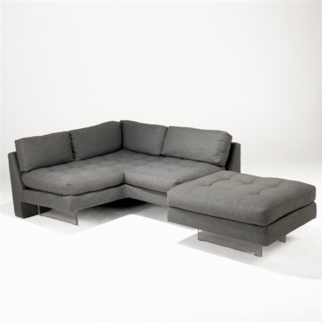 Omnibus sofa corner unit Ottoman 2 pieces by Vladimir Kagan on artnet