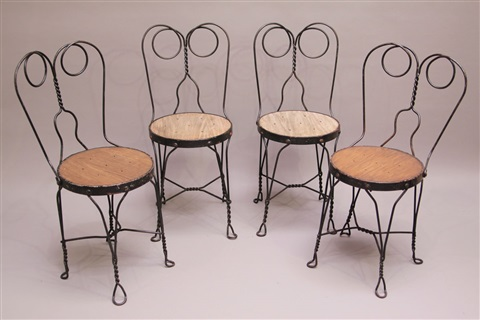 Ice Cream Parlor Chairs Set Of 4 By Royal Metal Manufacturing Co