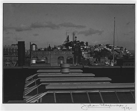 View Of Telegraph Hill From San Francisco Hotel Room By Johan Hagemeyer